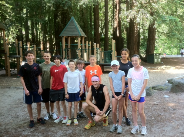 Old Mill Park just before running practice Dipsea 5/20/2012