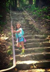 Janie Marie on dipsea steps