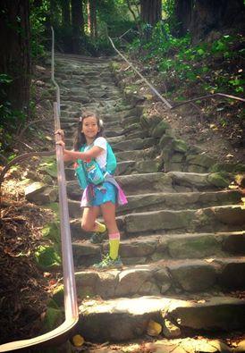 Janie Marie on dipsea steps