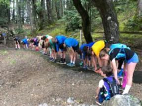 Steep ravine stretching